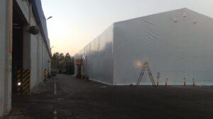 Beyaz depo çadırı
