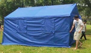 mavi yaşam çadırı